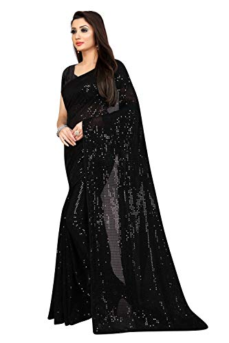 Florely Women's Pure Georgette Saree With blouse piece 3 41aLNXeIO9L