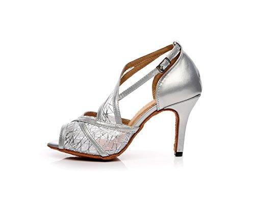 Miyoopark , Salle de bal femme - Argent - Silver-8.5cm Heel, 35 EU EU