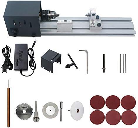 Benkeg ミニ旋盤ビーズ、ミニ旋盤ビーズポリッシャー機木工クラフトdiyロータリーツールセット標準研削セットeuプラグ