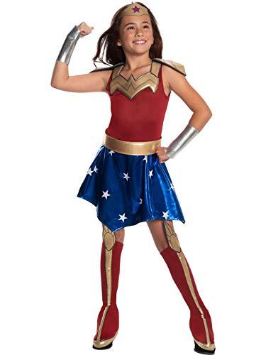 DC Super Hero Girl's Deluxe Wonder Woman Costume Dress, Small -