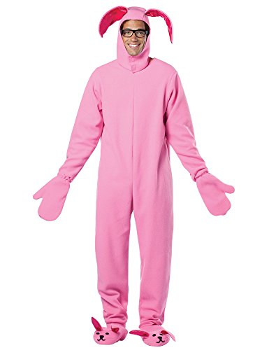 Christmas Story Bunny Costumes Suit (A Christmas Story Adult Bunny Suit Pink Pajama Gag Costume)