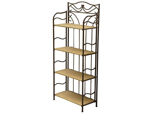 Wicker Resin/Steel 4-Tier Indoor/Outdoor Bakers Rack by International Caravan