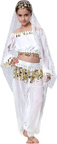 Girls Dancing Costumes Belly For Little (Top Model Dance for Girls 3T 4T 4)