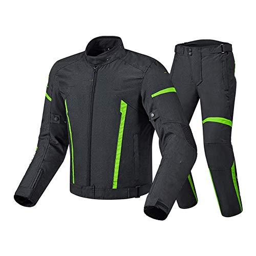 NCBH Waterdichte Motorbike Suits 2 Stuk Pak Motorbike Racing Suit Ingebouwde 7 Stks Beschermende Gear en Verwijderbare…