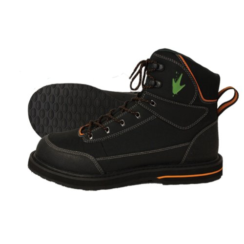 Ultralight Wading Shoe (Frogg Toggs Kikker Sticky Rubber Wading Shoe, 12, Black)