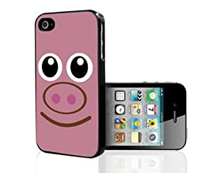 Pink Piggy Face Animal Hard Snap On Cell Phone Case Cover (iPhone 5 5s)