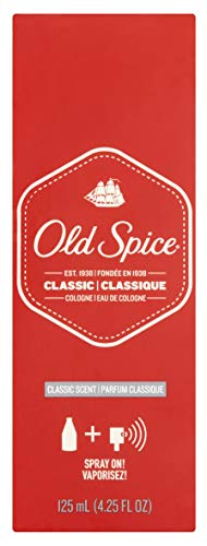 - Old Spice Classic Cologne Spray 4.25 oz (Pack of 3)