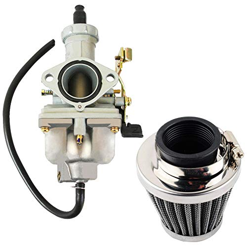 Yingshop Air filter + PZ27 Carburetor Carb Cable Choke 27mm for 4-stroke CG 125cc 150cc 200cc 250cc ATV Go Kart Dirt Bike Taotao Sunl Buyang Coolsport Lifan Kazuma Zongshen Chinese