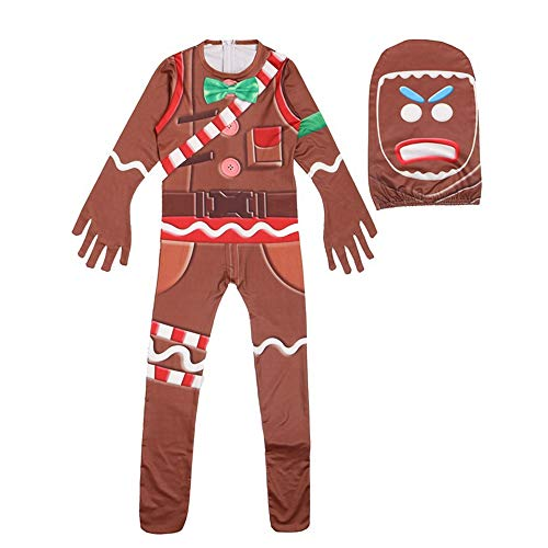 APPSSS Halloween Clothes Jumpsuits Boys Kids Cosplay Costume For The Gingerbread Man Girls Party Props Fashion personality (color : Photo Color, Size : 130 yards)]()