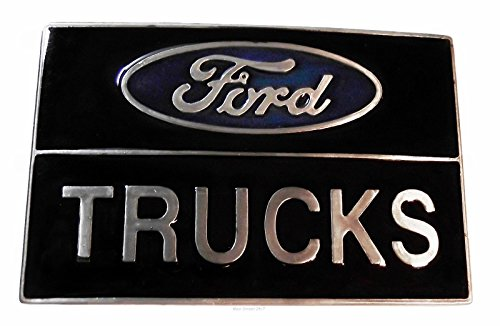 (Ford Trucks Square Metal Enamel Belt Buckle)