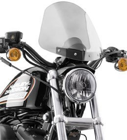 (National Cycle Gladiator Windshield - Light Tint/Blk)