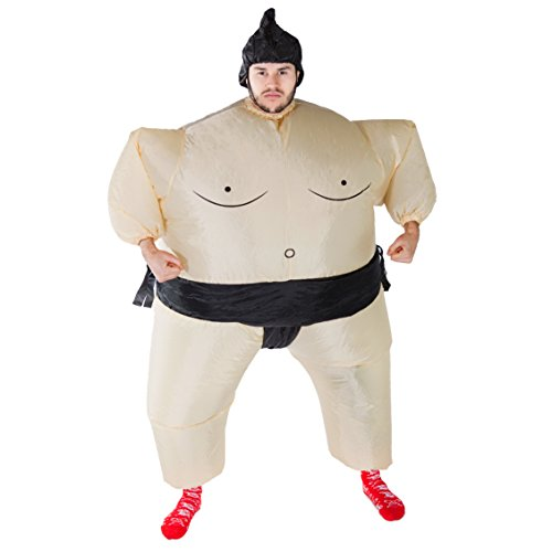 Bodysocks Adult Inflatable Sumo Wrestler Fancy Dress Costume
