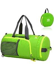 EchoFun Nylon Duffel Bag Foldable Travel Barrel Holdall Drybag Packable Backpack