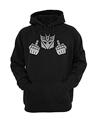 Transformer Flipping Off Funny Hooded Sweatshirt