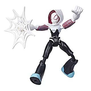 Spider-Man Marvel Bend and Flex Ghost-Spider Action Figure Toy, 6-Inch Flexible Figure, Includes Web Accessory, for Kids Ages 4 and Up