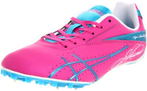 ASICS Women's Hyper-Rocketgirl SP Running Shoe,Hot Pink/Electric Blue/White,8.5 M US