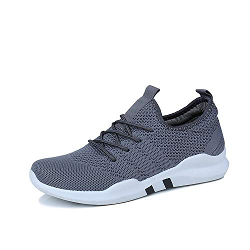 Special Shine-Shop Spring and Summer Mens Casual Shoes Lace-Up Breathable Shoes,Gray,12