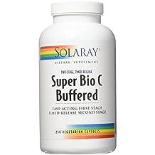 Solaray Super Bio C - Buffered 1000 mg By - 250 Vegetable Caps Vitamin C