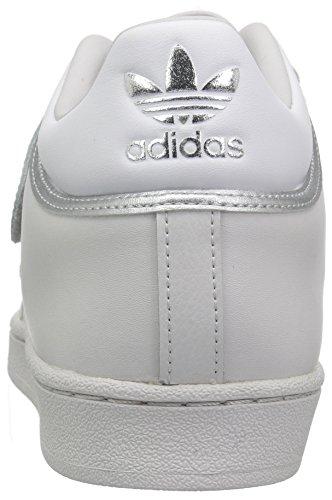 Grey White Men's adidas Metallic Silver Shell Sneaker Originals Pro ZwqUTX