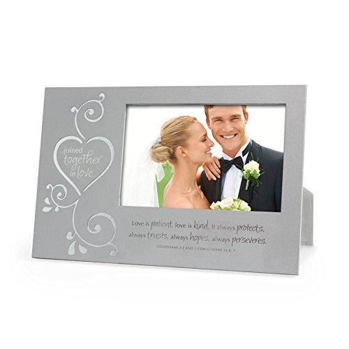Lighthouse Christian Products Metal Joined Together in Love Frame, 4 x 6'', Silver by Lighthouse Christian Products