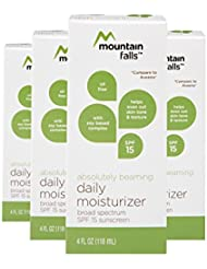 Mountain Falls Absolutely Beaming Daily Moisturizer SPF 15 Sunscreen, 4 Fluid Ounce (Pack of 4)