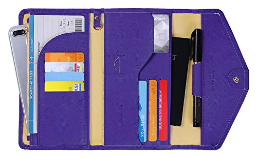 Zoppen Passport Holder for Women Passport Cover Travel Wallet Rfid Blocking Document Organizer Credit Card Holder Ver. 4 (Best Credit Card For International Students)