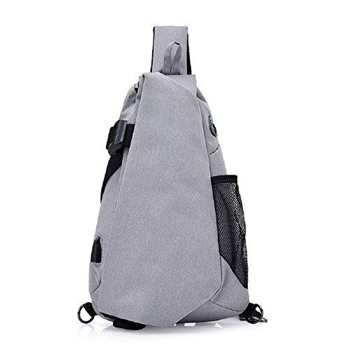 Zhrui Grey Messenger Usb For Zaino Man Bag df17dxw