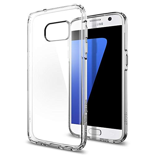 Spigen Ultra Hybrid Galaxy S7 Case with Air Cushion Technology and Hybrid Drop Protection for Samsung Galaxy S7 2016 - Crystal Clear