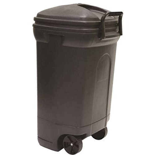 Potting Soil Costume (Black 45-Gallon Locking Handles Wheeled Trash Can)