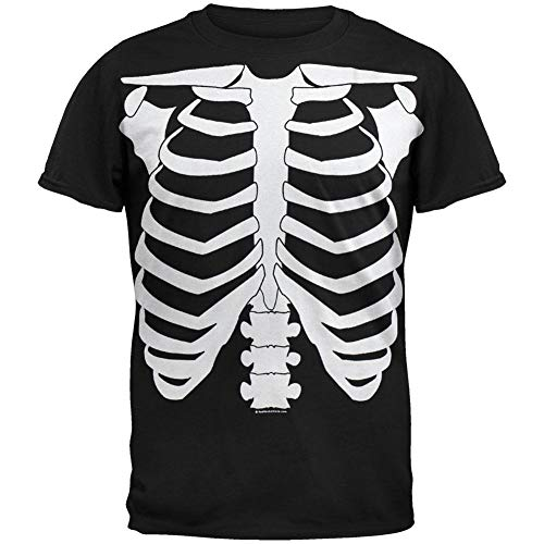 Old Glory Halloween Skeleton Glow In The Dark Costume T-Shirt - Medium