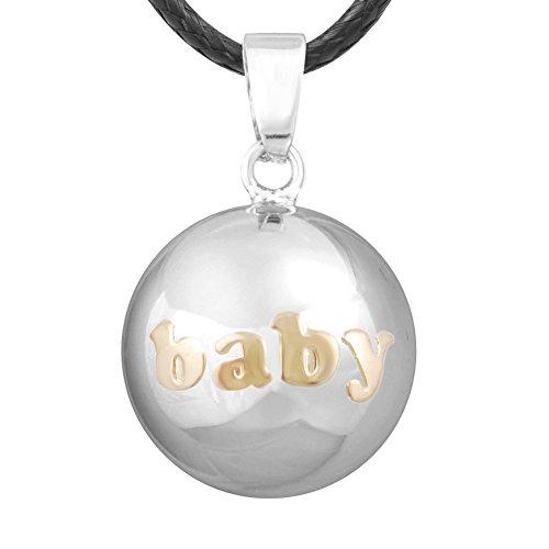 Eudora Harmony Bola BABY Musical Chime Prayer Bell Pendant Pregnancy Necklace, 45'' Cord