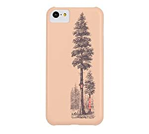 Back to the Roots iPhone 5c Apricot Barely There Phone Case - Design By Humans