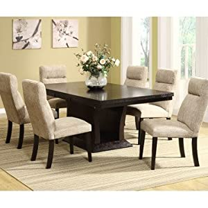 Homelegance Avery 9 Piece Pedesatal Dining Room Set In Espresso Part 56