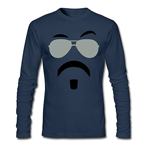 Aohaiqul Soul Patch & Shades Custom Men's Blank Long Sleeve T-Shirt Size XXL Color - Redding Stores Outlet