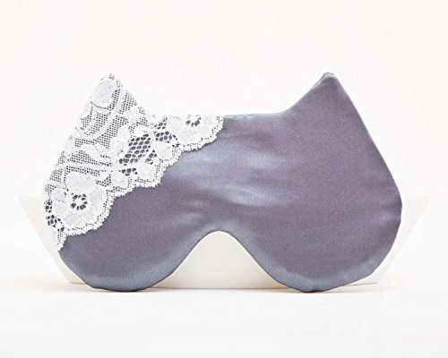 Handmade Gray Cat Sleep Mask, Cat Lover Gift, Lace Mask, Boho Clothing, Gifts for Her Under 20, Gift for New Mom, Gifts for Her Birthday, Gifts for Travelers, Valentines Day Gift for Her by JuliaWine