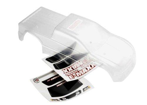 Traxxas 3912 Clear E-Maxx (Long Wheelbase) Body with Decal Sheet