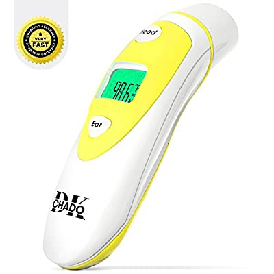 Digital Medical Infrared Forehead and Ear Thermometer for Baby Kids and Adults – Accurate and Instant Temperature Readings – Thermometer for Body with Fever Indicator