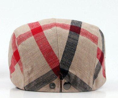 YueLian Womens Mens Plaid Stripes Ivy Irish Newsboy Cap Cabbie Hat