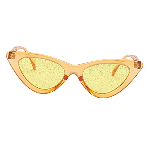 con para Lente Mujer Magideal de UV400 Libre marco Sol Aire Lente amarillo marco Retro Plástico amarillo con Conducción Gafas Deporte al Estilo de Protección Marco amarilla amarilla qPPHB