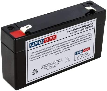 GE Security 60-914 Battery - Replacement UB613 Universal Sealed Lead Acid Battery (6V, 1.3Ah, 1300mAh, F1 Terminal, AGM, SLA)