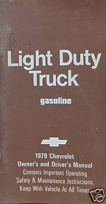 1979 Chevrolet Light Truck Owners & Drivers Manual-2nd - Choke Horn