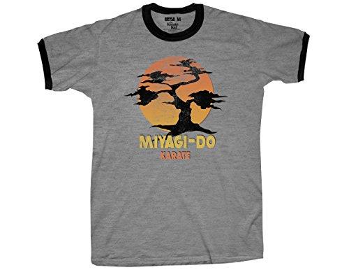 Ripple Junction Karate Kid Miyagi-Do Adult T-Shirt XL Heather Grey
