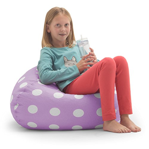 Big Joe Classic Bean Bag Chair Lavender Polka Dot New