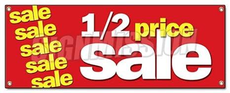 Amazon.com: Mitad de precio Venta Banner Sign 1/2 Gran ...