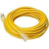 Extension Cords 35 FT 14 Gauge Indoor Outdoor Heavy Duty Power Extension Cord Yellow UL w/ Light