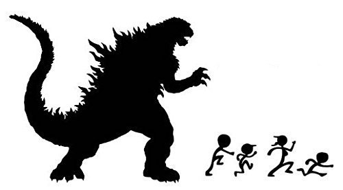 godzilla wall decal - 7