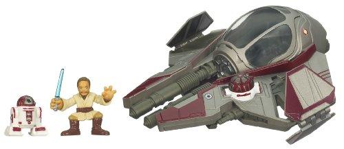 (Star Wars Galactic Heroes Cinema Scene - OBI Wan's Rots Jedi Starfighter)