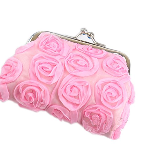 Buytra Rose Flower Wallet Change Purse Coin Key Buckle Pouch Bag?