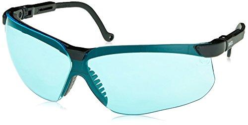 Uvex S3211X Genesis Safety Eyewear, Black Frame, SCT-Blue UV Extreme Anti-Fog - Sunglasses Safety Uvex