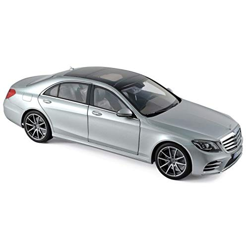 2018 Mercedes S Class AMG Line Silver Metallic 1/18 Diecast Model Car by Norev 183479